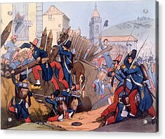 The French Legion Storming A Carlist Acrylic Print by English School