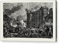 The French Revolution The Bastille Taken By The People Acrylic Print by Litz Collection