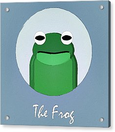 The Frog Cute Portrait Acrylic Print by Florian Rodarte
