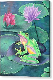 The Frog Acrylic Print by Vivien Rhyan