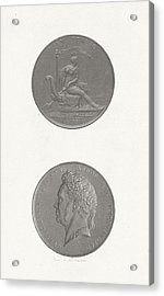 The Front And Back Of A Coin To Commemorate The 25th Acrylic Print