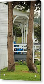 Acrylic Print featuring the photograph The Front Porch by E Faithe Lester