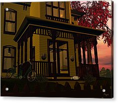 Acrylic Print featuring the digital art The Front Porch by John Pangia