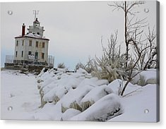 The Frozen Sentinel Acrylic Print by Frederic Vigne
