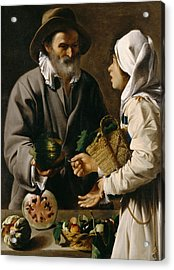 The Fruit Vendor Acrylic Print by Pensionante de Saraceni