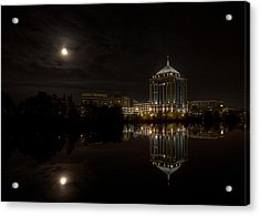 The Full Moon Over The Dudley Tower Acrylic Print
