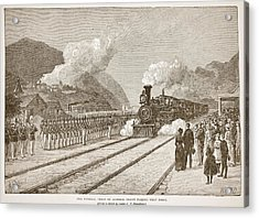 The Funeral Train Of General Grant Acrylic Print