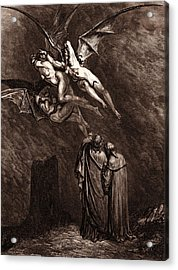 The Furies Before The Gates Of Dis Acrylic Print by Litz Collection