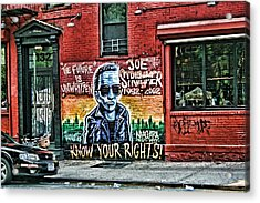 The Future Is Unwritten Acrylic Print by Terry Cork