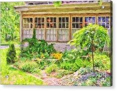 The Garden At Juniata Crossings Acrylic Print by Lois Bryan