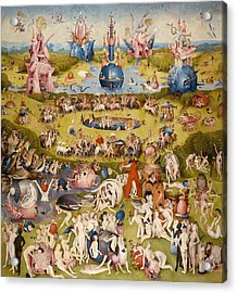The Garden Of Earthly Delights - Central Panel Acrylic Print by Hieronymus Bosch