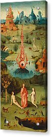 The Garden Of Earthly Delights - Left Wing Acrylic Print by Hieronymus Bosch