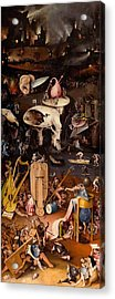 The Garden Of Earthly Delights - Right Wing Acrylic Print by Hieronymus Bosch