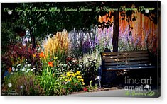The Garden Of Life Acrylic Print