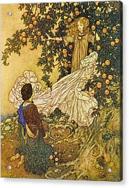 The Garden Of Paradise IIi Acrylic Print by Edmund Dulac