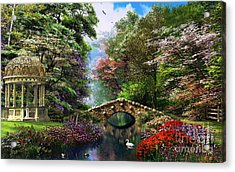 The Garden Of Peace Acrylic Print by Dominic Davison