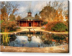 The Garden Pavilion Acrylic Print by Darren Fisher