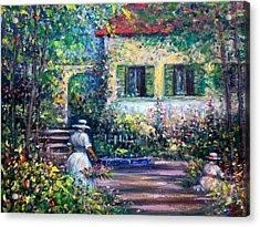 The Garden Acrylic Print by Philip Corley