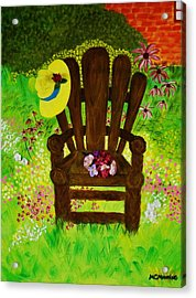 The Gardener's Chair Acrylic Print by Celeste Manning