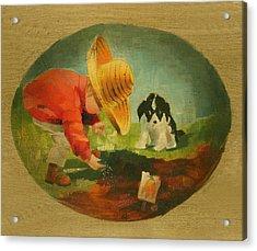 The Gardeners Acrylic Print