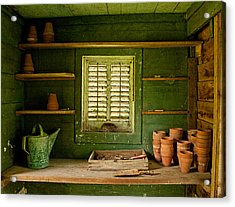 The Gardener's Shed Acrylic Print
