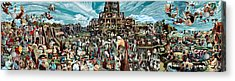 The Gardens Of Memory - Triptych -  Acrylic Print by Richard Meric