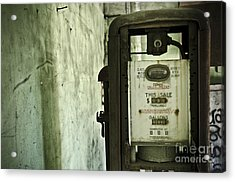 The Gas Pump  Acrylic Print by Jessica Berlin