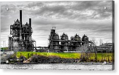 The Gasworks Park On Lake Union - Seattle Washignton Acrylic Print by David Patterson