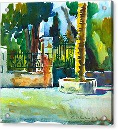 The Gate At Stella Maris Acrylic Print by Anna Lobovikov-Katz