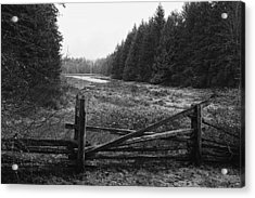 The Gate In Black And White Acrylic Print by Lawrence Christopher