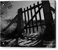 Acrylic Print featuring the photograph The Gate by Inge Riis McDonald