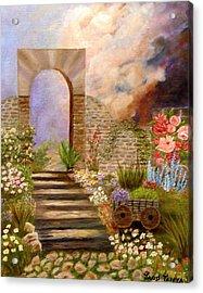 The Gate Acrylic Print by Janis  Tafoya