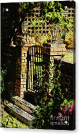 The Gate Acrylic Print by Nancy E Stein
