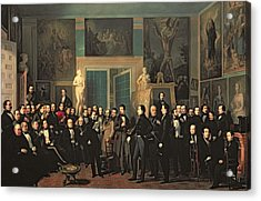 The Gathering Of The Poets, 1846 Oil On Canvas Acrylic Print by Antonio Maria Esquivel