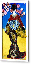 The Geisha Acrylic Print by Apanaki Temitayo M