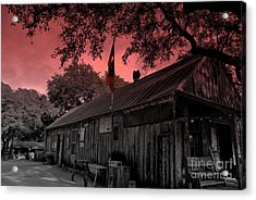 The General Store In Luckenbach Texas Acrylic Print by Susanne Van Hulst