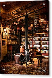 The General Store In My Basement Acrylic Print by Olivier Le Queinec