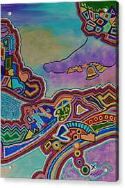 Acrylic Print featuring the painting The Genie Is Out Of The Bottle by Barbara St Jean