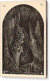 The Geyser 1872 Engraving Acrylic Print by Antique Engravings