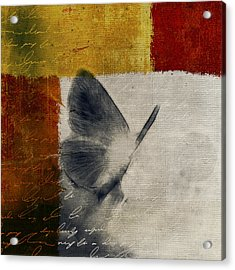 The Giant Butterfly And The Moon - S09-22cbrt Acrylic Print by Variance Collections