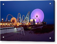 The Giant Wheel At Night  Acrylic Print by George Oze