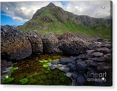 The Giant's Causeway - Peak And Pool Acrylic Print by Inge Johnsson