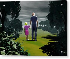 Acrylic Print featuring the digital art The Gift Of Being 'daddy' by John Alexander