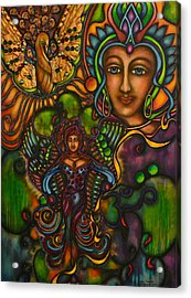 The Gift Of Lady Phoenix Acrylic Print by Marie Howell Gallery