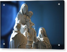 The Gift Of The Rosaries Statue Acrylic Print by Thomas Woolworth