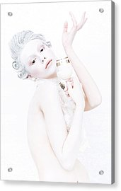 The Girl With A Glass Of Milk Acrylic Print by Evgeniy Lankin