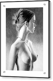 The Girl With The Glass Earring Acrylic Print