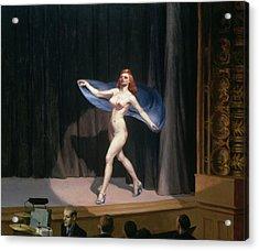 The Girlie Show Acrylic Print by Edward Hopper