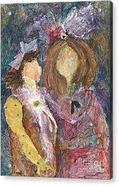 the Girls Acrylic Print by Sherry Harradence