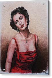 The Glamour Days Elizabeth Taylor Acrylic Print